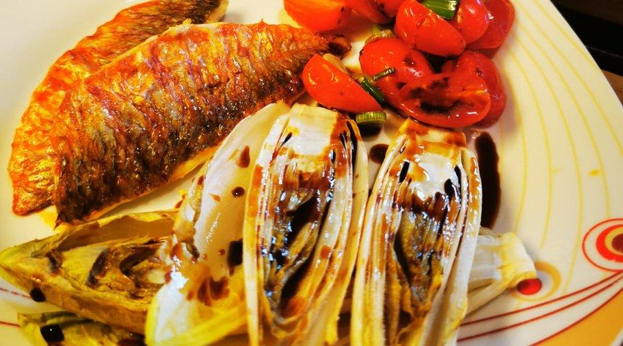 Barbuni s cikorijom u grill tosteru by David Skoko